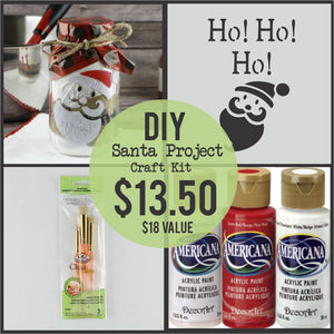 Santa Mason Jar Project Kit
