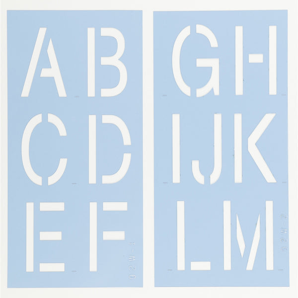 Helvetica Letter Stencil Set by Crafty Stencils