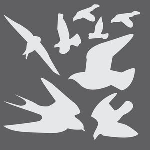 Birds Mini Craft Stencil by Crafty Stencils