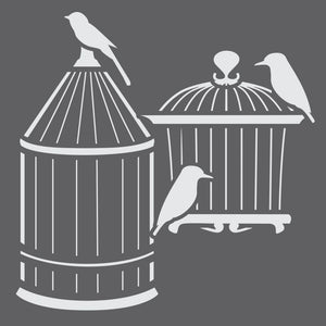 Bird Cages Mini Craft Stencil