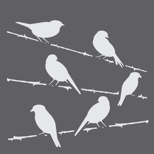 Birds on a Wire Mini Craft Stencil