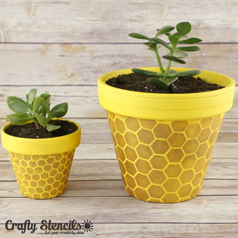 Hex Mini Craft Stencil by Crafty Stencils