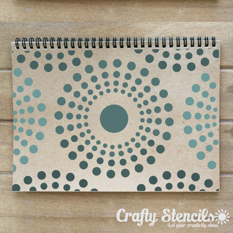 Kaleidoscope Mini Craft Stencil by Crafty Stencils