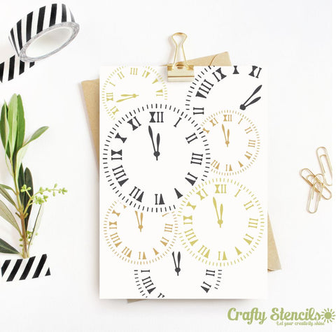 Clock Work Mini Craft Stencil by Crafty Stencils