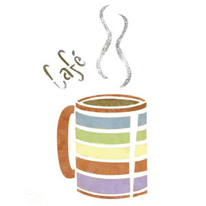Café Coffee Cup Craft Stencil by Crafty Stencils