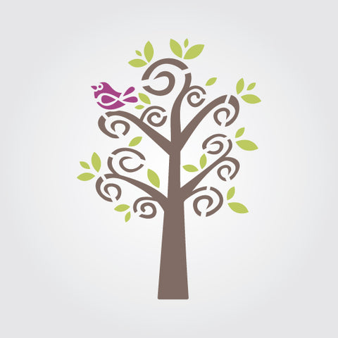 Fanciful Tree Craft Stencil
