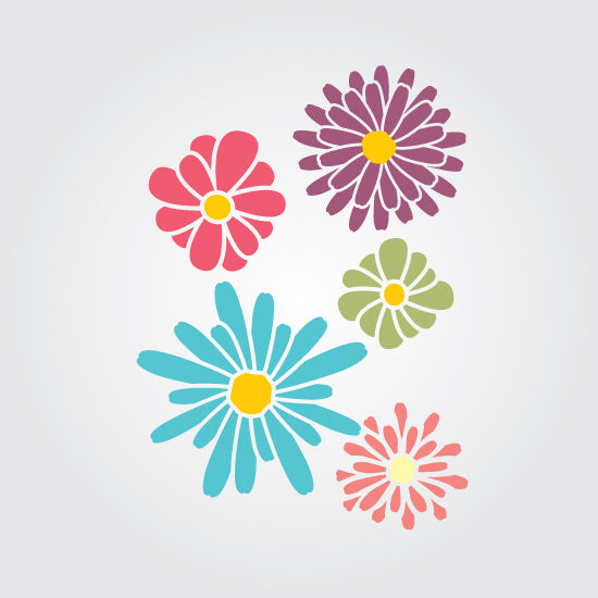 Floral Pop Craft Stencil by Crafty Stencils