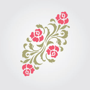 Beach Rose Craft Stencil by Crafty Stencils