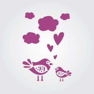 Love Birds Craft Stencil