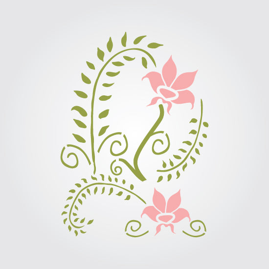 Fern and Petals Craft Stencil