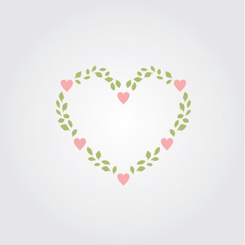 Heart Vine Craft Stencil