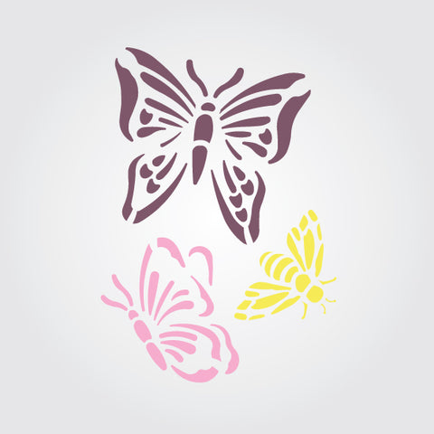 Butterfly Dance Craft Stencil by Crafty Stencils