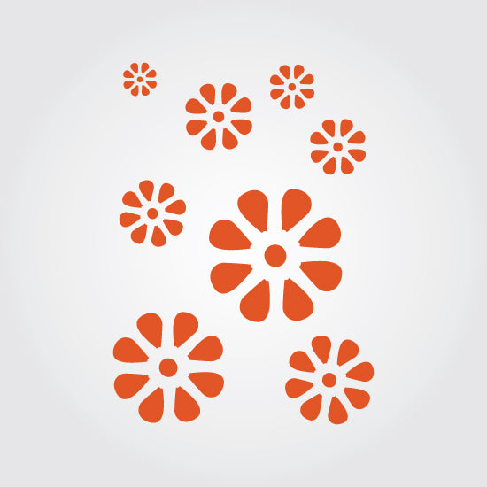 Flower Power Craft Stencil