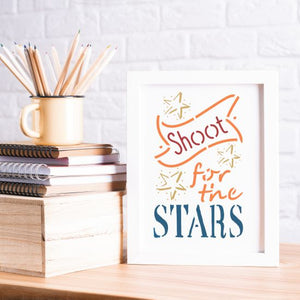 Shoot for the Stars Craft Stencil