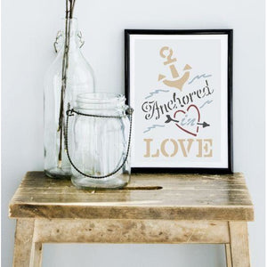 Anchored in Love Craft Stencil