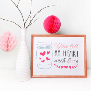 You Fill My Heart with Love Craft Stencil by Crafty Stencils