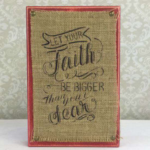 Faith and Fear Craft Stencil