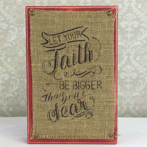 Faith and Fear Craft Stencil by Crafty Stencils