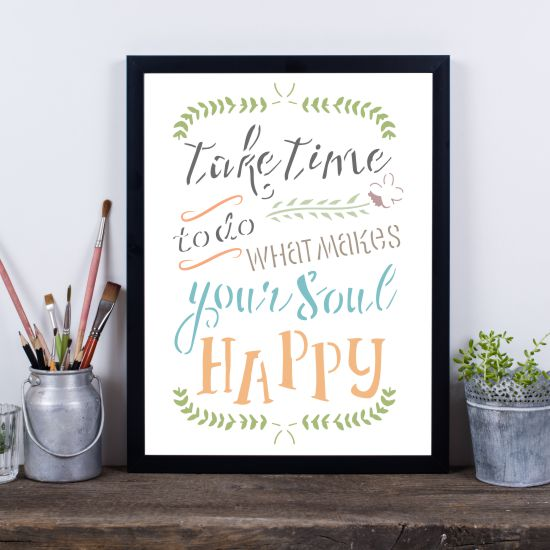 What Makes your Soul Happy Craft Stencil