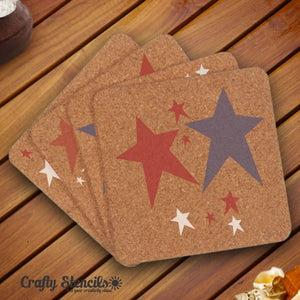 Antique Stars Craft Stencil by Crafty Stencils