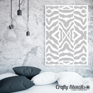 Zebra Print Craft Stencil by Crafty Stencils
