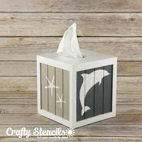Dolphins Craft Stencil by Crafty Stencils