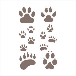 Paws Craft Stencil