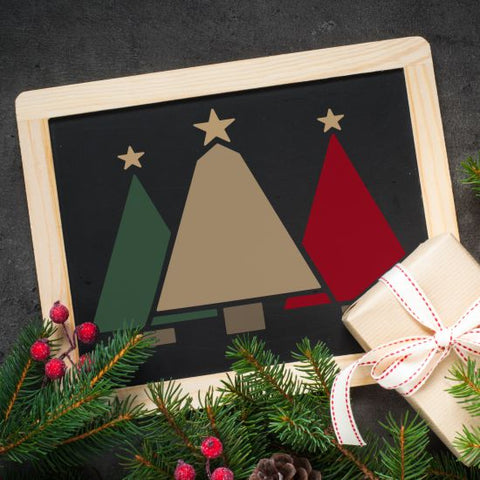 Christmas Trees Craft Stencil