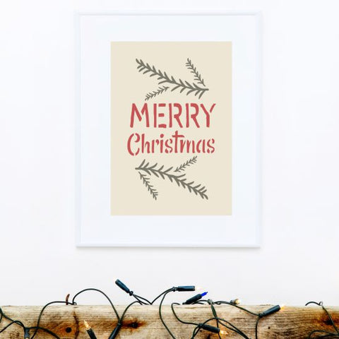 Merry Christmas Craft Stencil