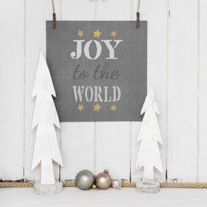 Joy to the World Craft Stencil