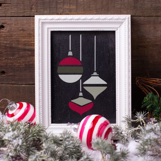 Ornament Trio Craft Stencil