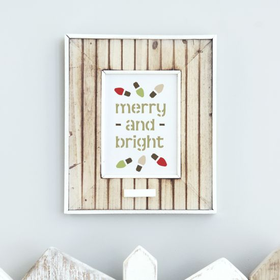 Merry and Bright Craft Stencil