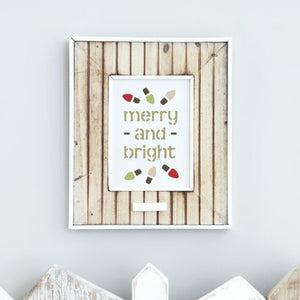Merry and Bright Craft Stencil by Crafty Stencils