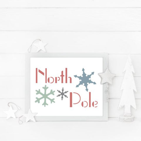 North Pole Craft Stencil