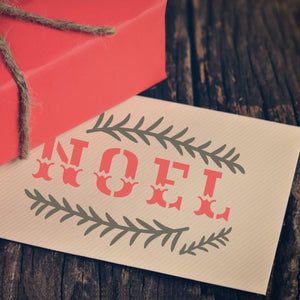 Traditional Noel Craft Stencil