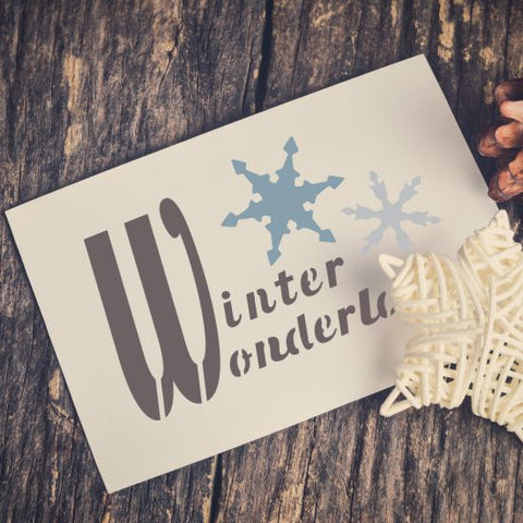Winter Wonderland Craft Stencil