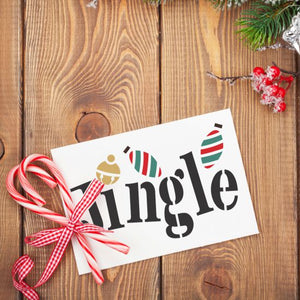 Jingle Whimsy Craft Stencil by Crafty Stencils
