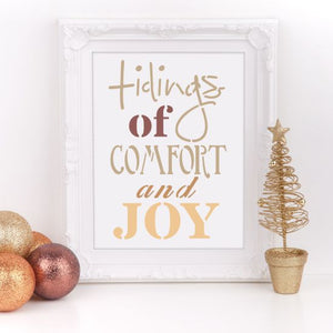 Comfort and Joy Craft Stencil by Crafty Stencils