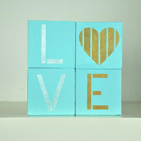 L is for Love Craft Stencil by Crafty Stencils
