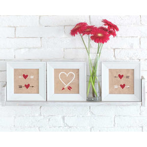 Hearts & Arrows Craft Stencil