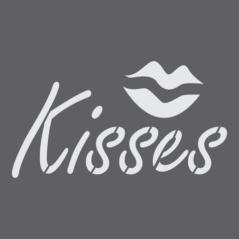 Kisses Craft Stencil by Crafty Stencils
