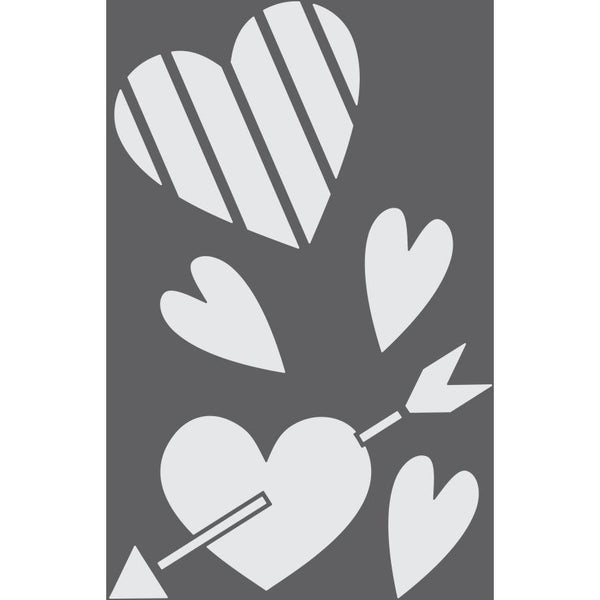 Valentine's Hearts Craft Stencil