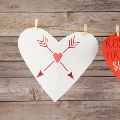 XOXO Valentine's Day Craft Stencil