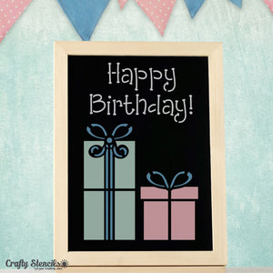 Happy Birthday Craft Stencil by Crafty Stencils