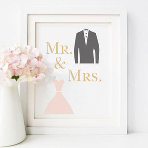 Tux and Gown Craft Stencil