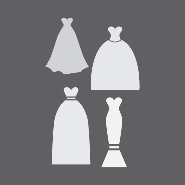 Gowns Craft Stencil
