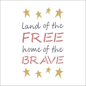 Land Of The Free Craft Stencil