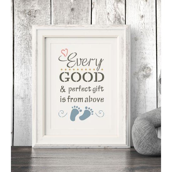 Every Good and Perfect Gift is from Above Craft Stencil by Crafty Stencils