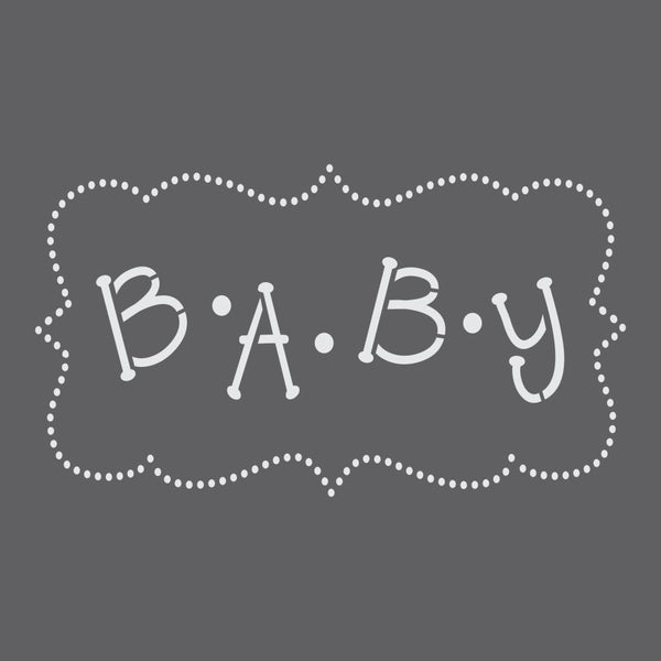 Baby Craft Stencil by Crafty Stencils