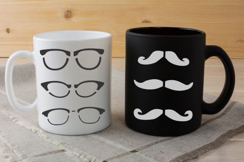 Mustaches Craft Stencil by Crafty Stencils